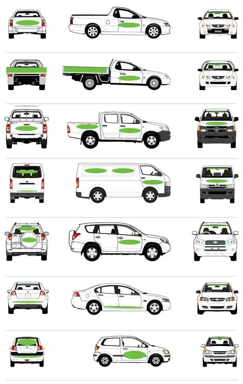 Car Types In Australia by Surrey Vehicle Truck Window Graphics