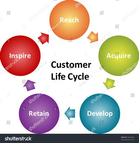 customer cycle diagram customer lifecycle business strategy management marketing