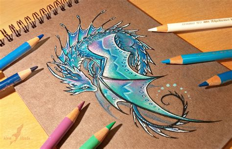 water dragon tattoo lunar water by alviaalcedo deviantart on