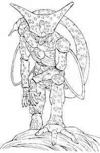 dragon ball monster cell coloring pages dragon ball coloring pages kidsdrawing free