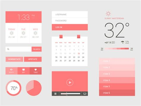 flat design app layout flat ui kits best for web and app ui design graphics