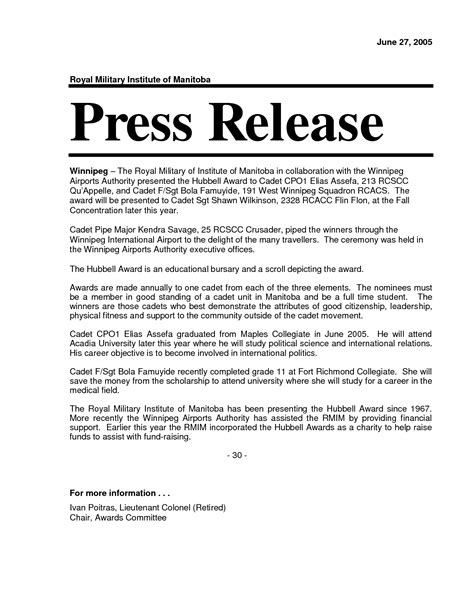 press statement template the power of a press release pruth magazine