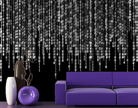 matrix home design decor enterprise fleece wall mural binary code ii wallpaper wall art wall