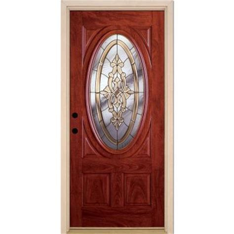 front entry doors home depot feather river doors 37 5 in x 81 625 in silverdale brass