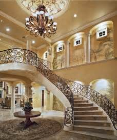 Grand Stairs Design A Look At Some Grand Foyers From Houzz Homes Of The Rich