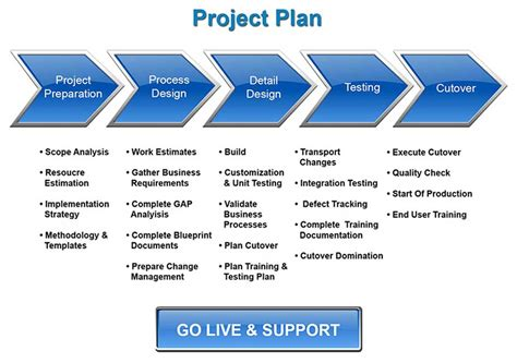 erp project implementation plan template sap implementation migration glamantech