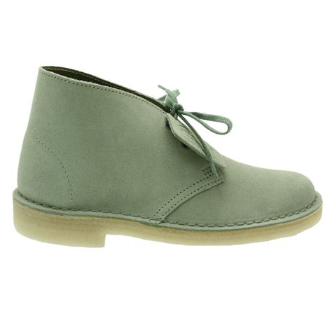 clarks boots buy clarks originals womens pale green suede desert boots