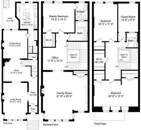 brownstone floor plans 8 best brownstone floorplans images on pinterest 3 4