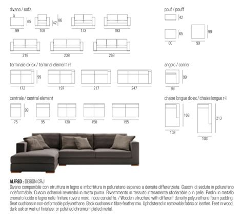couch sizes jesse alfred modular sofa modern sofas contemporary