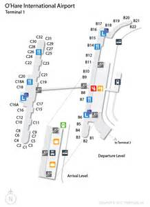chicago airport map us airways ord o hare international airport terminal map
