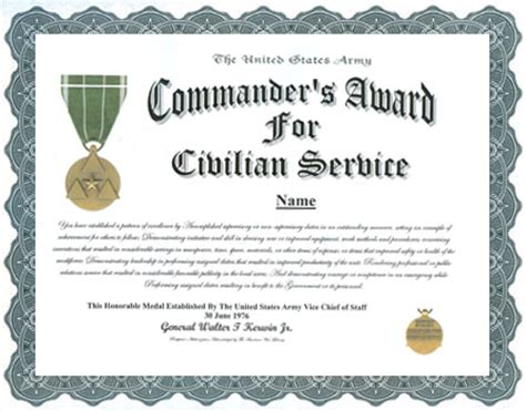 meritorious service medal citation template photos civilian achievement award write up best