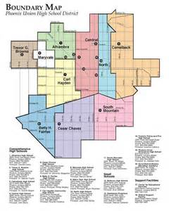 arizona school district map district information attendance boundaries