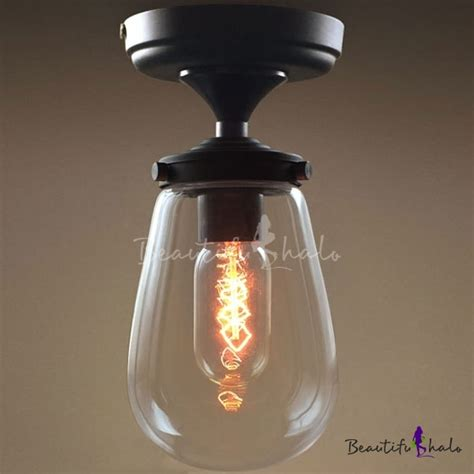 modern clear glass led ceiling l fixture small simple