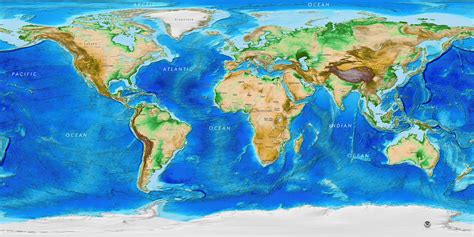 topographic map of the world global topography bathymetry world wall mural w country