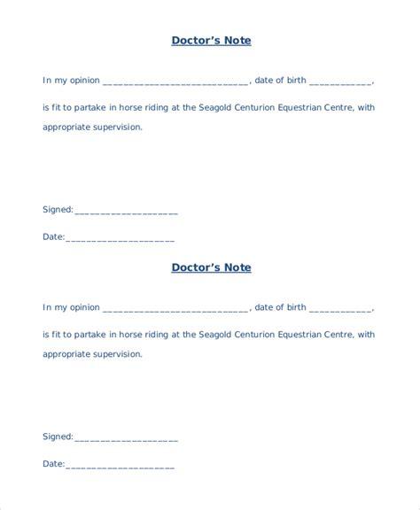 printable doctors note template sle doctors note 8 exles in pdf word