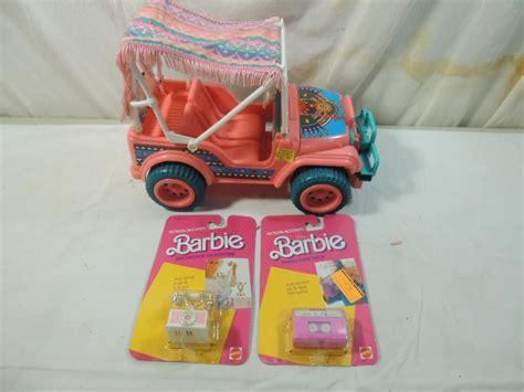 vintage barbie jeep lot 3 vintage barbie jeep accessories