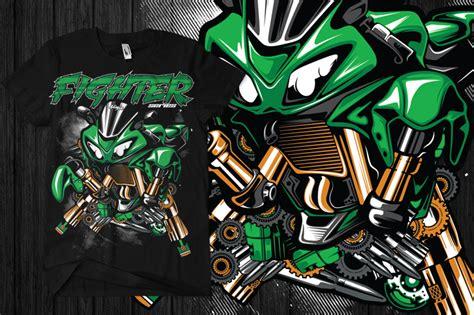 Tshirt Kaos Kawasaki Racing sribu office clothing design desain tshirt motor