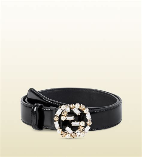 Gucci Leather G White gucci leather belt with pearl and interlocking g buckle in white pearl lyst