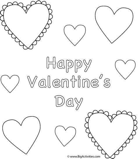 Happy Valentines Day Hearts To Color Www Imgkid Com Happy Valentines Day Hearts Coloring Pages
