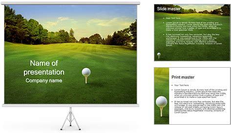 templates powerpoint golf golf ball powerpoint template backgrounds id 0000003412
