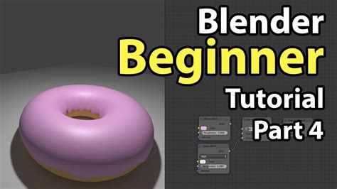 blender tutorial youtube com blender beginner tutorial part 4 material nodes youtube