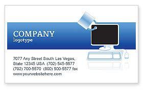 computer business card template computer shield software business card template layout