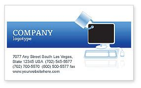 computer shield software business card template layout