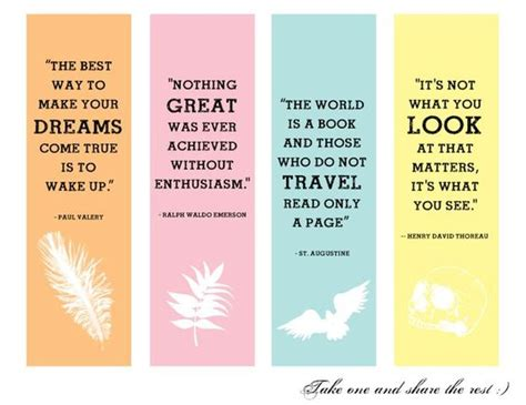 Handmade Bookmarks With Quotes - creative handmade bookmarks design with quotes