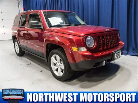 jeep burgundy interior 2017 jeep patriot latitude 4x4 24640 miles burgundy 2 4l