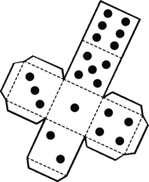 dice pattern cut out