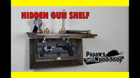 hidden gun storage shelf youtube