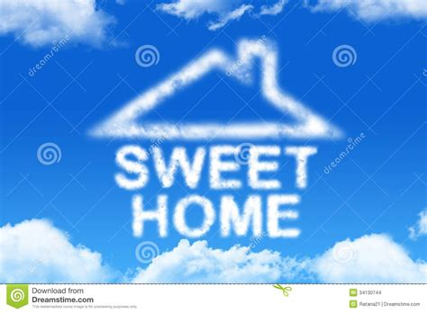 sweet home cloud word stock images image 34130744