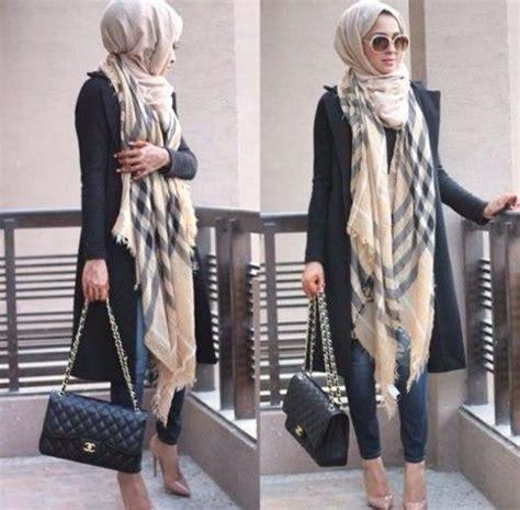 Https Www Stylish | burberry scarf hijab style hijab looks by sincerely