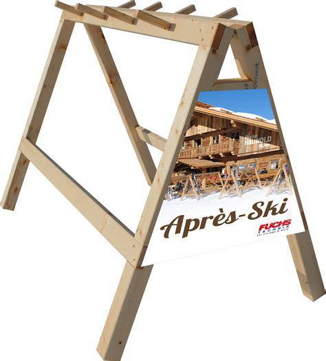 Wooden Ski Rack by Fuchs Technik Wooden Ski Racks