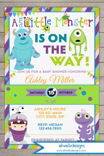 Baby Monsters Inc Baby Shower by Monsters Inc Baby Shower Invitation Monsters