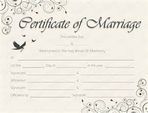 spring blossoms marriage certificate template get