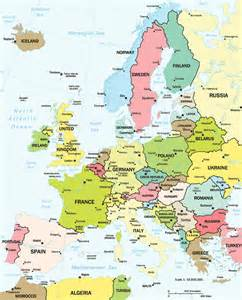 Countries In Europe Map by Google Maps Europe Map Of Europe Countries