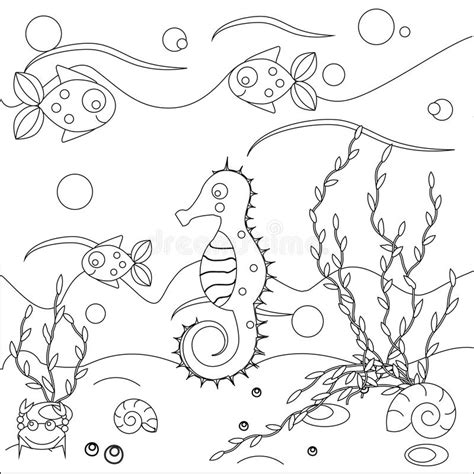underwater themed coloring pages coloring page with sea scene marine life theme