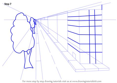 Drawing 7 Point by Learn How To Draw One Point Perspective Buildings One