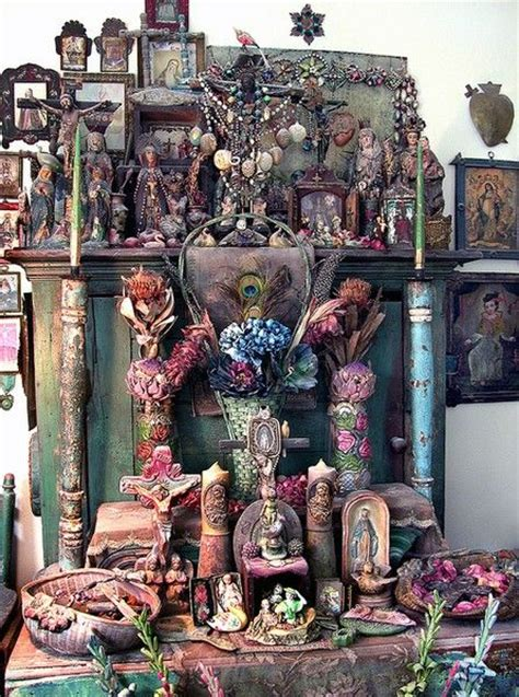 Folk Home Decor by Altars Bohemian Shrine Shrines Nichos Retablos