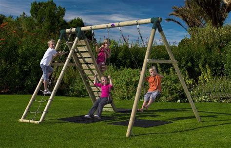 swing sets uk plum uakari wooden garden swing set happy kiddies