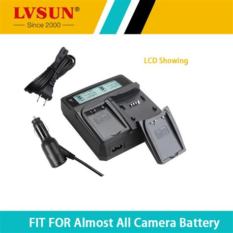 Desktop Charger Lcd 1 lvsun np 140 np140 battery dual car desktop charger for fujifilm fuji finepix s100fs s200exr