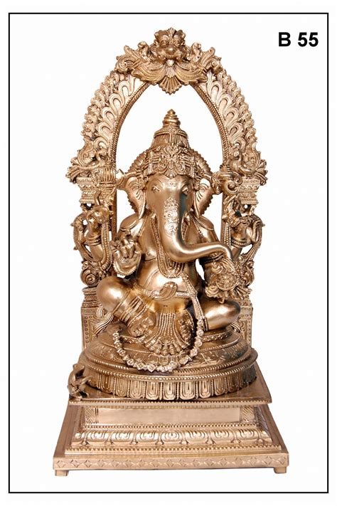 Handmade Ganesh Ji - bronze handmade ganesh idol with arch shopping 1