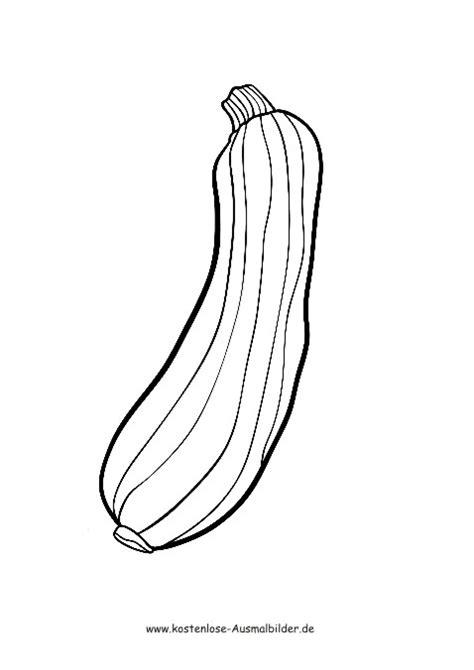 ausmalbilder zucchini lebensmittel zum ausmalen