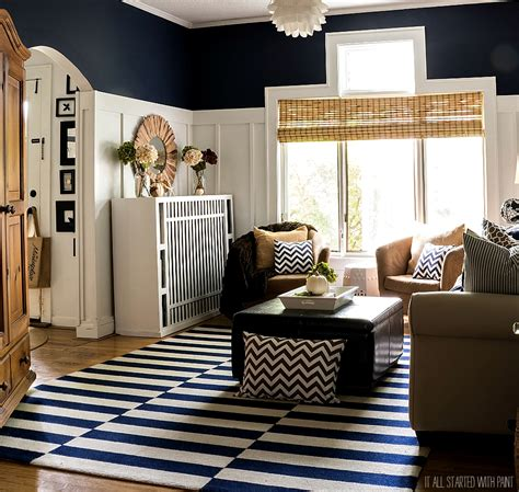 brown bedroom decor fall decor in navy and blue