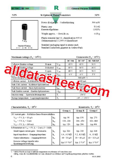 bc547 all transistor datasheet bc547 datasheet pdf diotec semiconductor