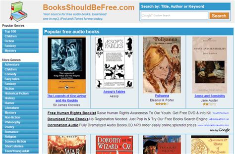 best free books 10 websites for free audio books