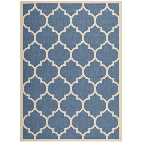 Polypropylene Outdoor Rugs Safavieh Indoor Outdoor Blue Beige Polypropylene Area Rugs Cy6914 243 Ebay
