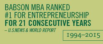 Babson College Entrepreneurship Mba Ranking by Babson Mba Ranks Number 1 In Entrepreneurship Babson College