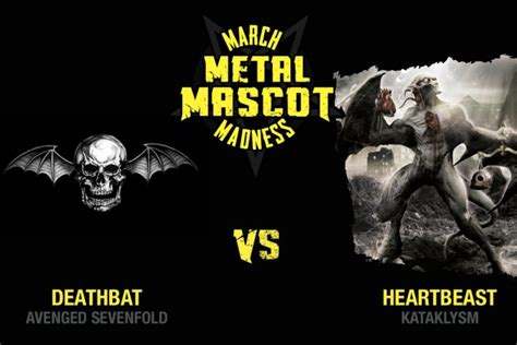 Avenged Sevenfold Metal Band a7x vs kataklysm march metal mascot madness 1